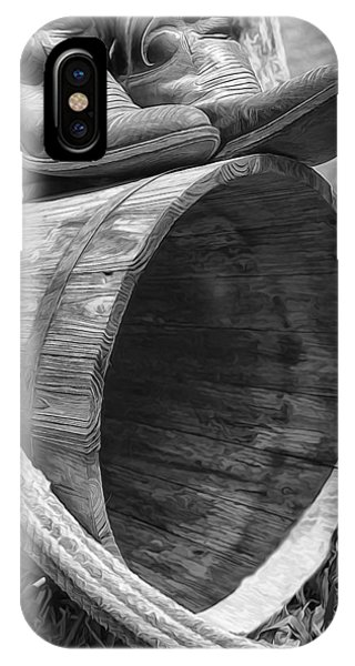 Cowboy Boots In Black And White IPhone Case