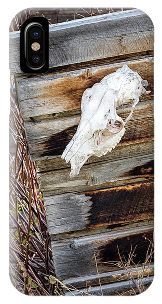 IPhone Case featuring the photograph Cowboy Cabin Adornment by Denise Bush