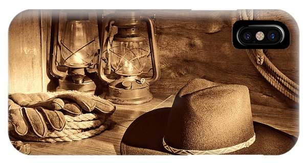 Cowboy Hat And Kerosene Lanterns IPhone Case