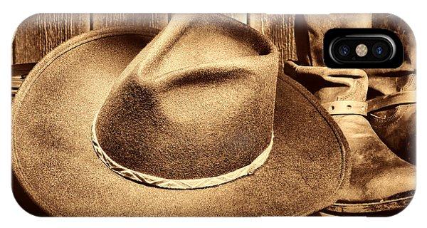 Cowboy Hat On Floor IPhone Case