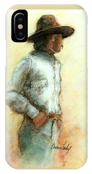 Cowboy In Thought IPhone Case