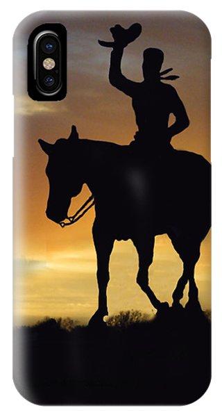 Cowboy Slilouette IPhone Case