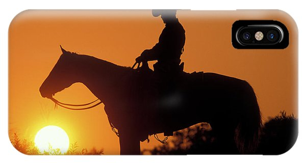 iPhone Case - Cowboy Sunset Silhouette by Shawn Hamilton