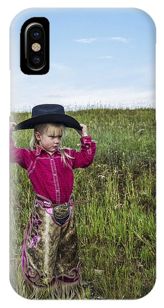 Cowgirl Chick 2 IPhone Case