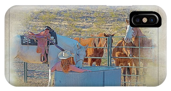 Cowgirl Spa 5p Of 6 IPhone Case