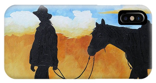 Cowgirl Sunset IPhone Case