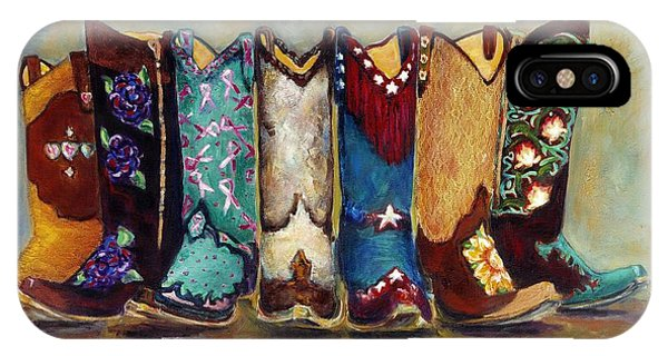 University iPhone Case - Cowgirls Kickin The Blues by Frances Marino