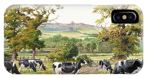 iPhone Case - Cows In Castle Meadows by Anthony Forster