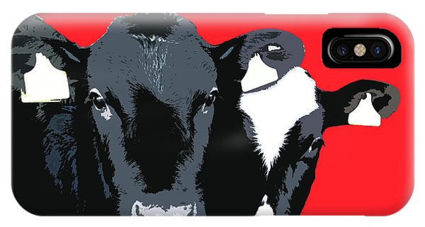 Cows - Red IPhone Case