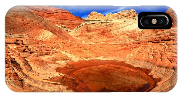 Coyote Buttes Sandstone Reflections IPhone Case