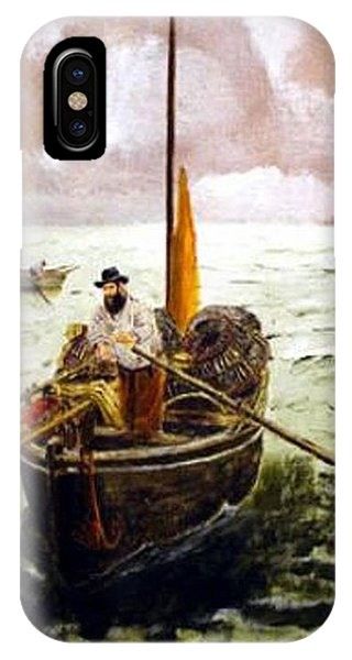 IPhone Case featuring the painting Crab Fisherman by Richard Le Page