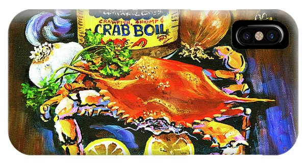Expressionism iPhone Case - Crab Fixin's by Dianne Parks
