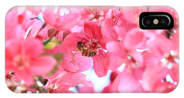 Crabapple Bees 2 IPhone Case