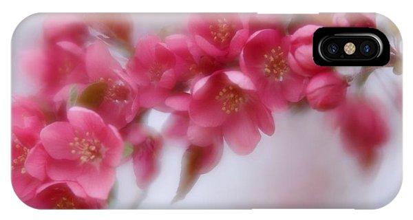 Crabapple Blossom - Dark Pink IPhone Case