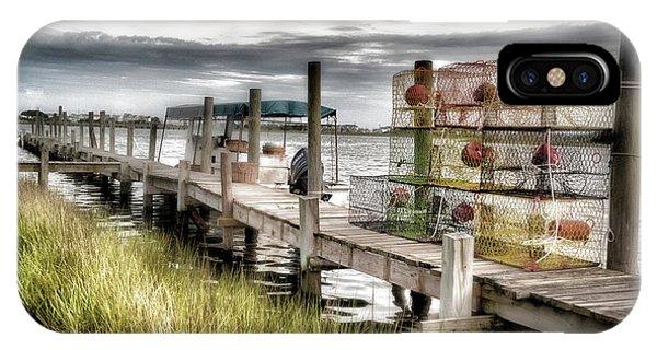 Crabber's Dock, Surf City, North Carolina IPhone Case