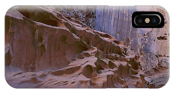 Crack Canyon Blue Wall IPhone Case