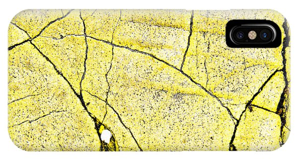 Cement iPhone Case - Cracked Yellow Paint by Tom Gowanlock