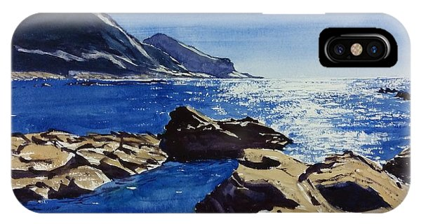 IPhone Case featuring the painting Crackington Haven Sparkle by Lawrence Dyer
