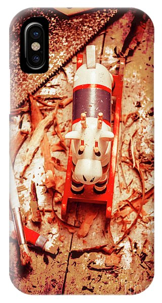 Reindeer iPhone Case - Crafting Christmas Presents by Jorgo Photography - Wall Art Gallery