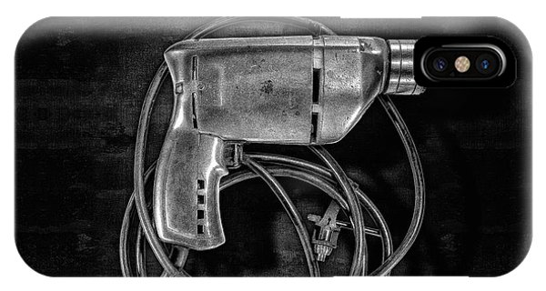Craftsman iPhone Case - Craftsman Drill Motor Bs Bw by YoPedro