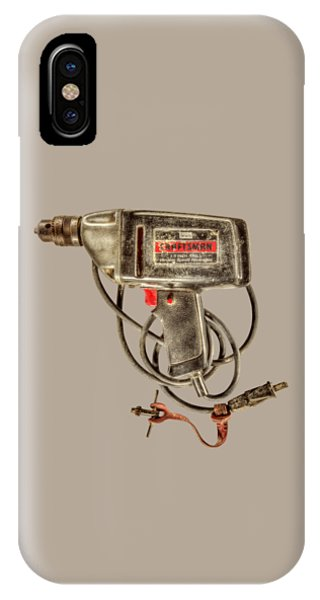 Craftsman iPhone Case - Craftsman Electric Drill Motor by YoPedro