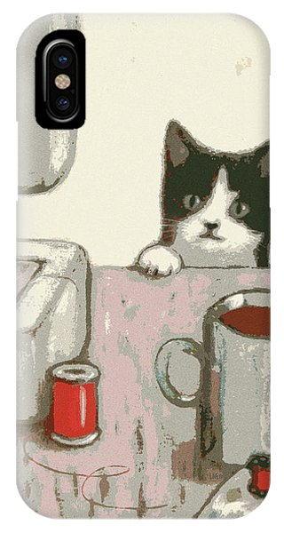 Crafty Cat #2 IPhone Case