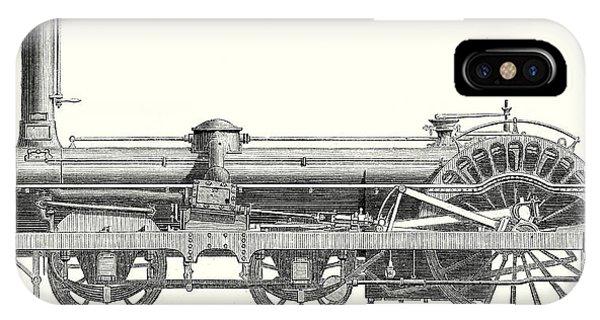 Crampton Locomotive IPhone Case