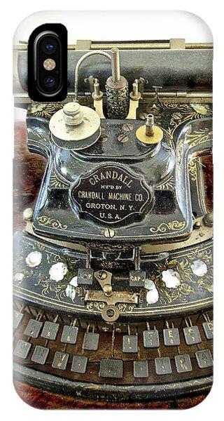 Crandall Type Writer 1893 IPhone Case