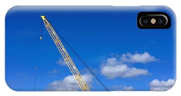 Professional iPhone Case - Crane On Road Construction Site by Juan Silva