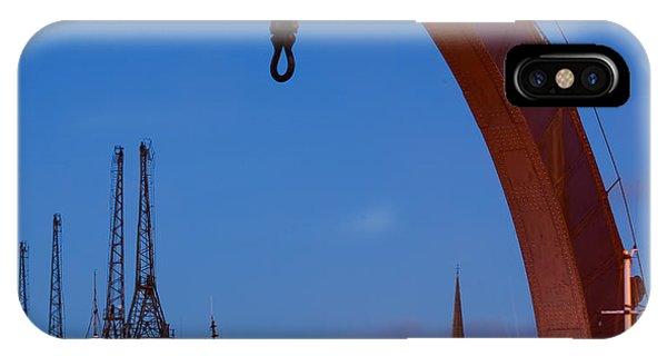 Cranes, Bristol Harbour IPhone Case
