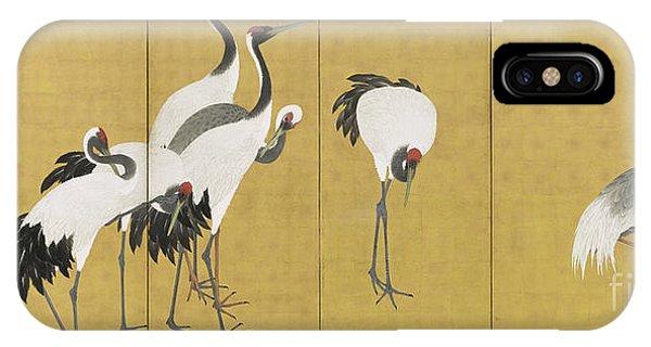 Palace iPhone Case - Cranes by Maruyama Okyo