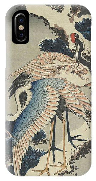 Cranes On Pine IPhone Case