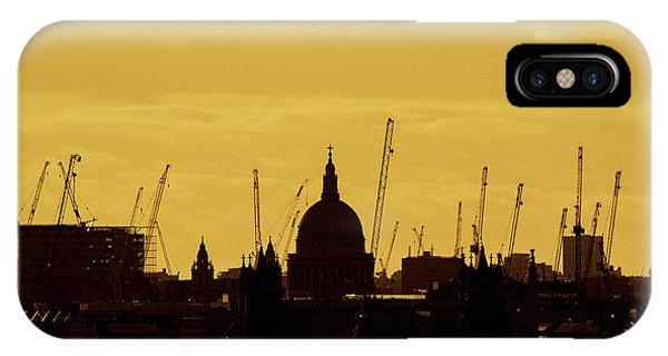 Cranes Over London Phone Case by Wayne Molyneux