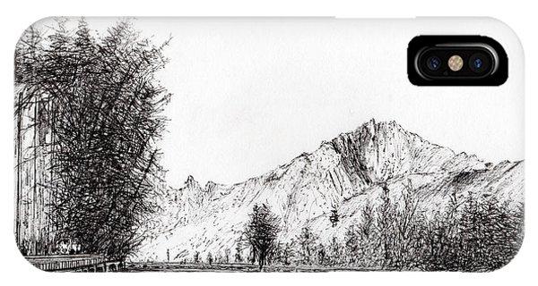 Cabin iPhone Case - Crans  Switzerland by Vincent Alexander Booth
