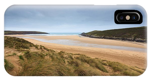 Crantock Beach In Cornwall England Phone Case by Richard Thomas