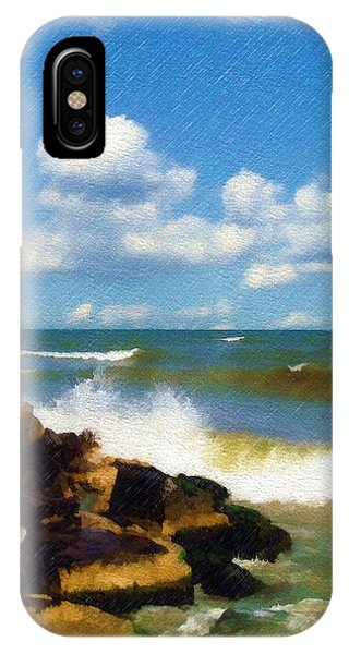 Crashing Into Shore IPhone Case