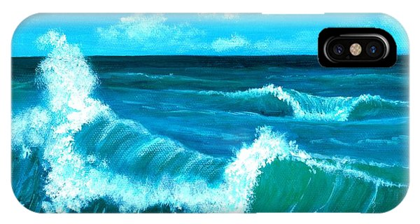 IPhone Case featuring the painting Crashing Wave by Anastasiya Malakhova