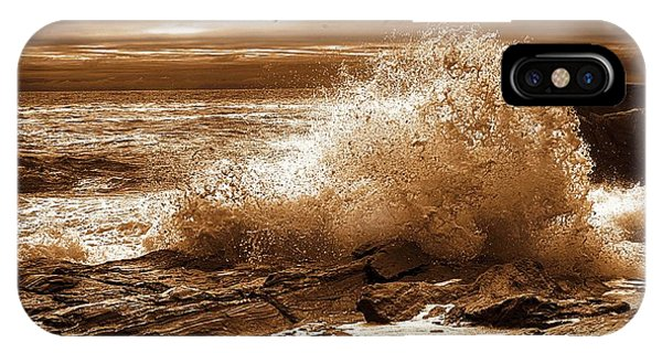 Crashing Wave Hdr Golden Glow IPhone Case