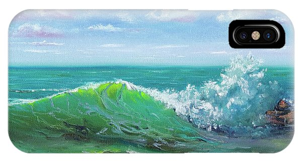 IPhone Case featuring the painting Crashing Wave by Mary Scott