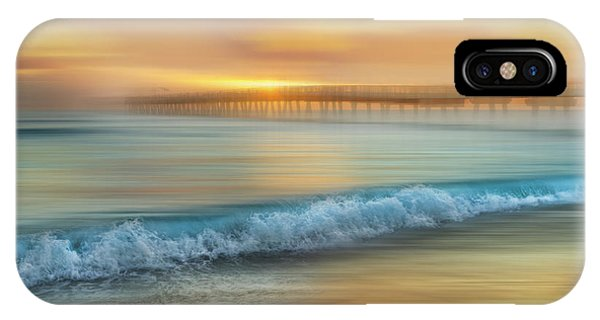 iPhone Case - Crashing Waves At Sunrise Dreamscape by Debra and Dave Vanderlaan
