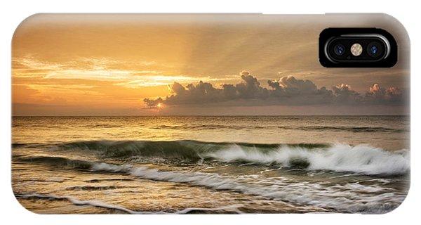 Crashing Waves At Sunrise IPhone Case