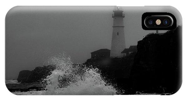 Crashing Waves On A Foggy Morning IPhone Case