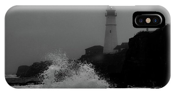 IPhone Case featuring the photograph Crashing Waves On A Foggy Morning by Darryl Hendricks