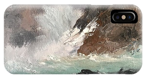 Crashing Waves Seascape Art IPhone Case