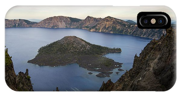 Crater Lake At Sunset IPhone Case