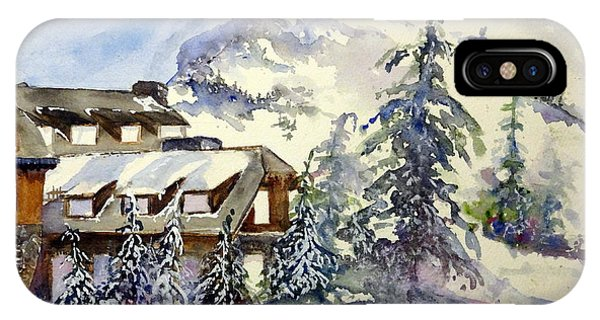 Crater Lake Lodge - Closed For Winter    IPhone Case