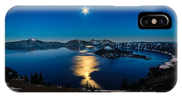 Crater Lake Moonlight IPhone Case