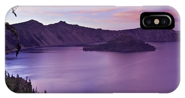 Crater Lake Sunset IPhone Case