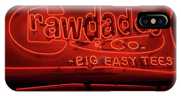 Craw Daddy Neon Sign IPhone Case