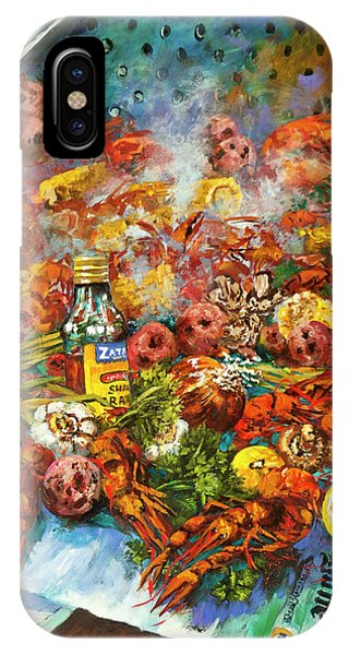French Artist iPhone Case - Crawfish Time by Dianne Parks